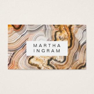 Modern design för Agateabstraktmakro Visitkort