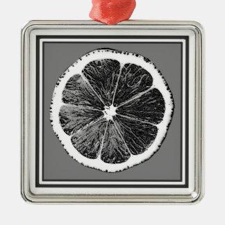 Modern design för frukt för druva för B&W-grå Julgransprydnad Metall