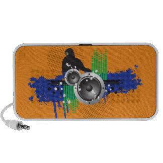 Modern DJ-doodle högtalare för Grunge (orangen)