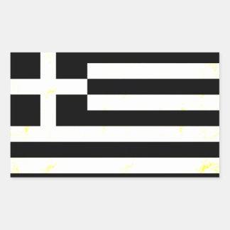 Modern edgy grekisk flagga rektangelformat klistermärke