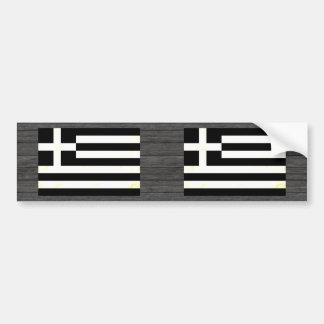 Modern edgy grekisk flagga bildekal