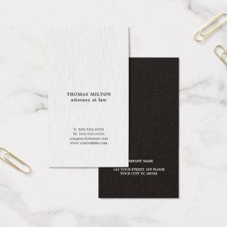 Modern elegant advokat för strukturvitsvart visitkort