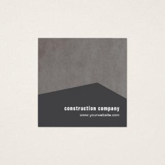 Modern elegant geometrisk konstruktionskonsulent fyrkantigt visitkort