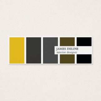 Modern elegant guld- formgivare för grå litet visitkort