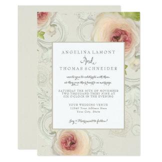 Modern elegant konst för blommigt för 12,7 x 17,8 cm inbjudningskort