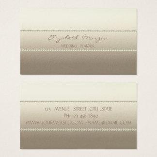 Modern elegant snyggt, pärlor visitkort