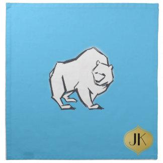 Modern, enkel & härlig hand plockadebjörn tygservett