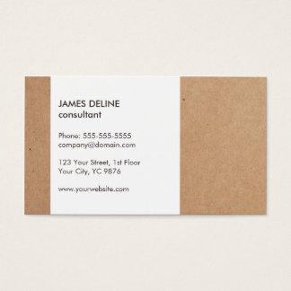 Modern enkel pappvitkonsulent visitkort