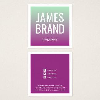 Modern färglutningövergång fyrkantigt visitkort