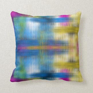Modern färgrik abstrakt Crosshatch Kudde