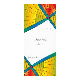 Modern färgrik design anpassningsbara rackkort