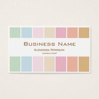 modern fin färgpastellpalett visitkort