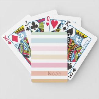 modern fin pastell färgar monogramen spelkort