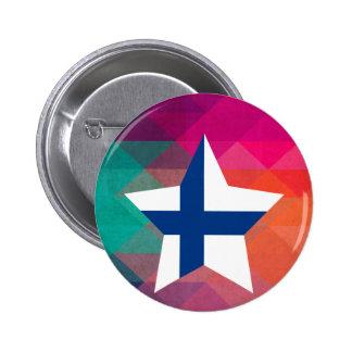 Modern Finland flagga Standard Knapp Rund 5.7 Cm