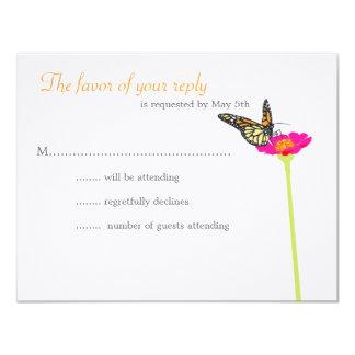 Modern fjärilsOSA kort - färg 10,8 X 14 Cm Inbjudningskort