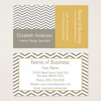 Modern formgivare för grå färg- och visitkort