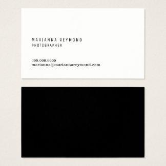 modern fotograf för minsta inledningskontakt visitkort