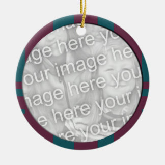 modern fotoram för purpurfärgad kricka julgransprydnad keramik