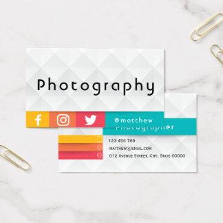 modern geometrisk färgglad | fotograf visitkort
