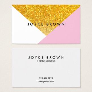 Modern geometrisk guld- Minimalist visitkort