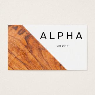 Modern geometrisk Wood kornbakgrundsdesign Visitkort