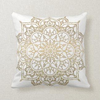 Modern Glam för guld- glamour för Mandalavit chic Kudde