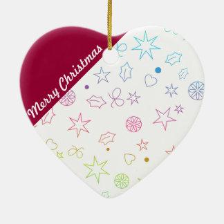 Modern god julhjärtaprydnad hjärtformad julgransprydnad i keramik