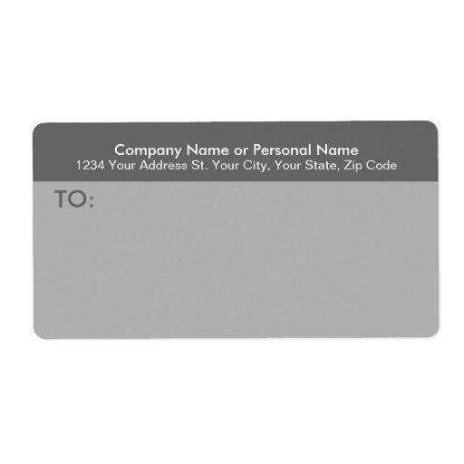 Modern grå affärsbrevskickandeetikett fraktsedel