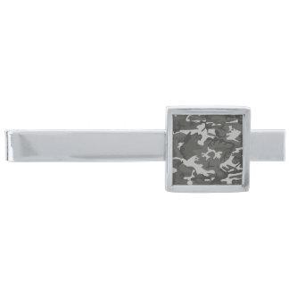 Modern grå militär Camo för silver kamouflage Silverpläterad Slipsnål