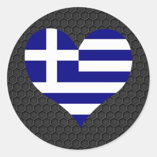 Modern grekisk flagga runt klistermärke