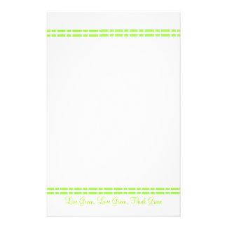 Modern grön design brevpapper