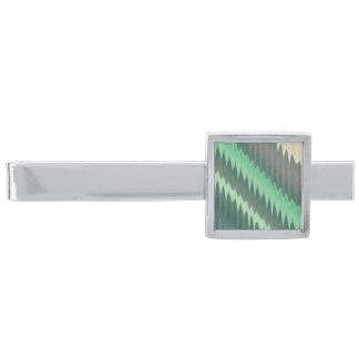 Modern grön sicksack för grå färgturkosIkat sparre Silverpläterad Slipsnål