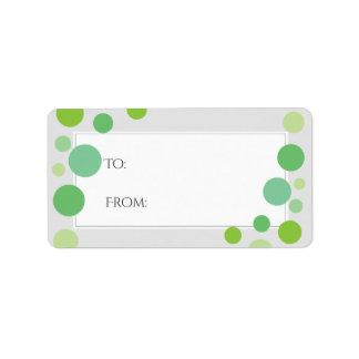 Modern grönt pricker neutralt för helgdag för adressetikett