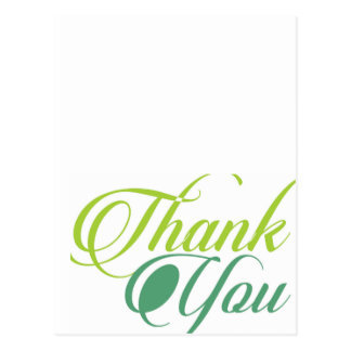 Modern grönt tackar dig skrivar vykort