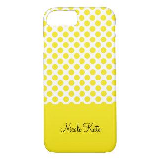 Modern gul polka dotsMonogram
