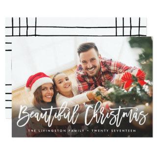 Modern härlig jul för HELGDAGFOTOKORT   12,7 X 17,8 Cm Inbjudningskort