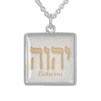 Modern hebré för YHVH Eloheinu Sterling Silver Halsband
