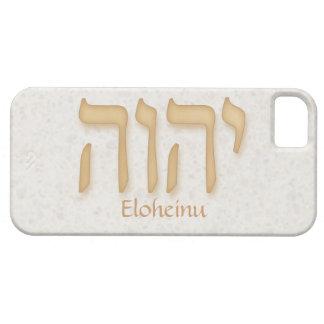 Modern hebréisk iPhone 5 BarelyTher för YHVH iPhone 5 Skal