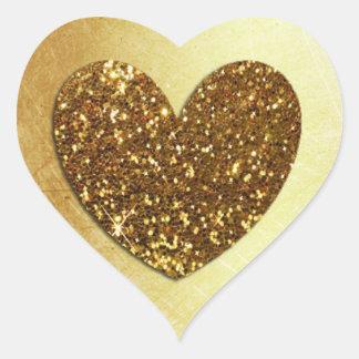 Modern hjärtformade klistermärke för guld-