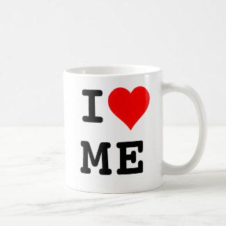Modern I-hjärta mig kaffemugg Vit Mugg