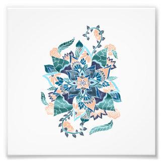 Modern illustration för blommigt för fototryck