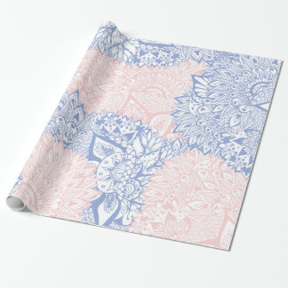 Modern illustration för blommigt för mandala för presentpapper