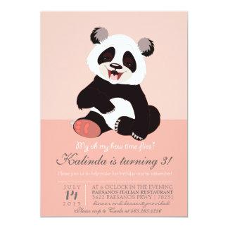Modern inbjudan för Pandabjörnrosor