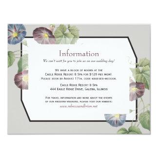 Modern information om bröllop för 10,8 x 14 cm inbjudningskort