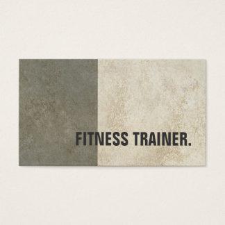 Modern instruktör för kondition för grå färg för visitkort