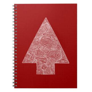 Modern julgran anteckningsbok