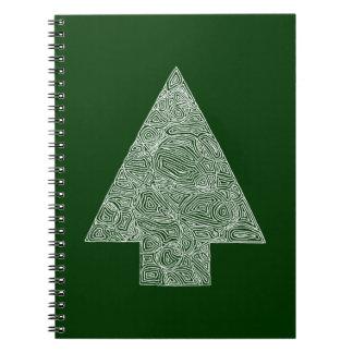 Modern julgran anteckningsbok med spiral