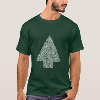 Modern julgran tshirts