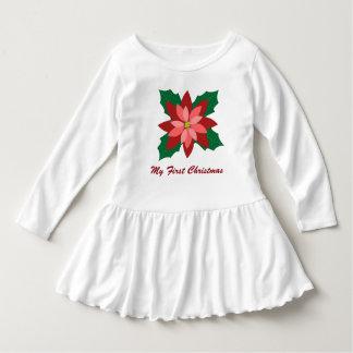 Modern julstjärnajulklänning t-shirt
