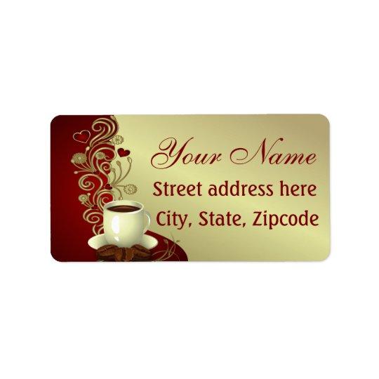 Modern kaffeälskare adressetikett